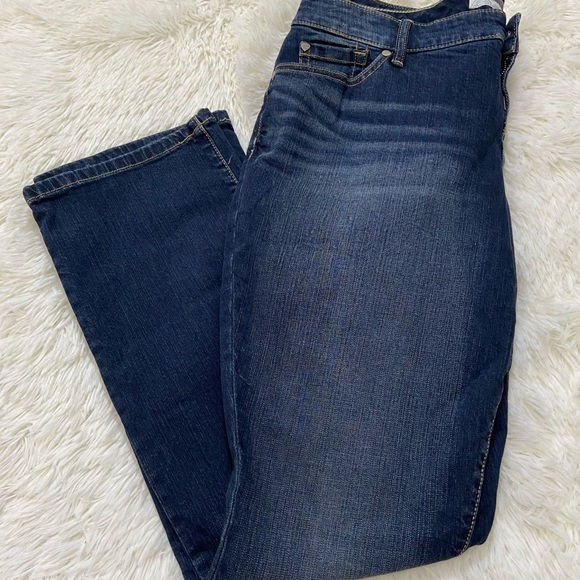 BARELY BOOT Dark Wash Stretch Jeans